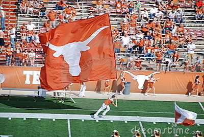 Texas longhorns college football game Editorial Stock Image