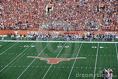 Texas longhorns college football game Editorial Stock Photo