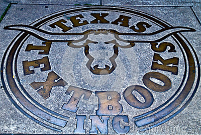Texas longhorns symbol Editorial Photography