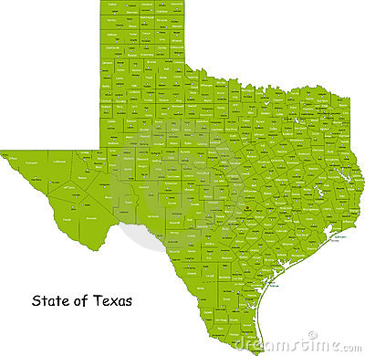 Free Texas Map Stock Photography - 10748082