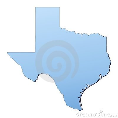 Free Texas Map Royalty Free Stock Image - 4619186