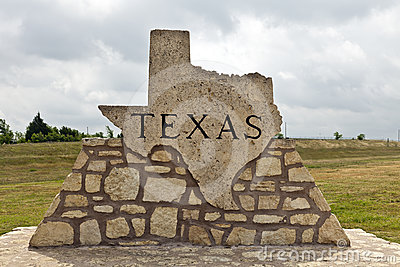 Texas Road Marker Made of Stone
