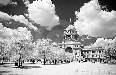 Texas State Capital in Infrared