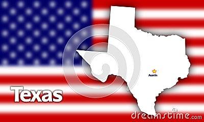 Texas state contour