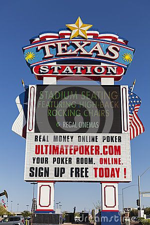 Texas Station Casino Sign in Las Vegas, NV on May 29, 2013 Editorial Stock Image