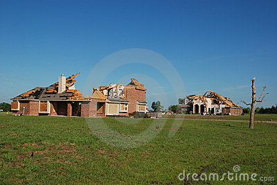Texas Tornado - Destroyed Homes Editorial Photo