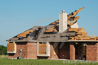 Texas Tornado - Destroyed House Editorial Stock Image