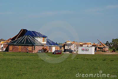Texas Tornado - Destroyed Neighborhood Editorial Photo