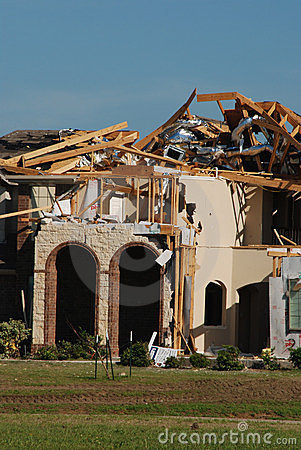 Texas Tornado - Destruction Editorial Photography