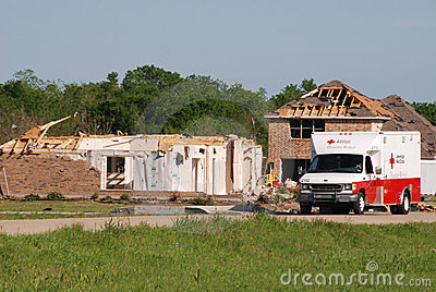 Texas Tornado - Red Cross Editorial Photography