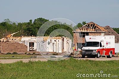 Texas Tornado - Red Cross Editorial Photography