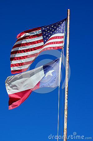 Texas and USA Flag