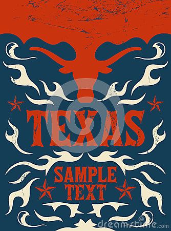 Free Texas Vintage Poster - Card -  Western - Cowboy Stock Photography - 33345382