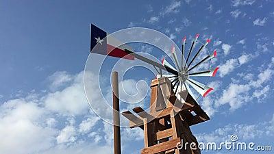 Texas-Wetterfahne stock video footage