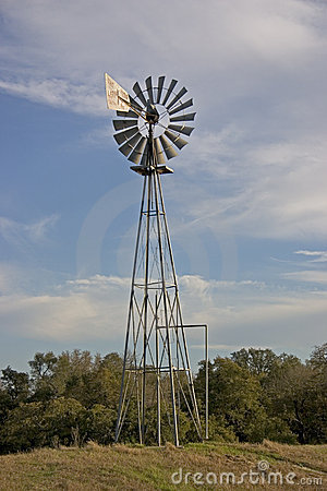 Texas Windmill 1 Stock Photo