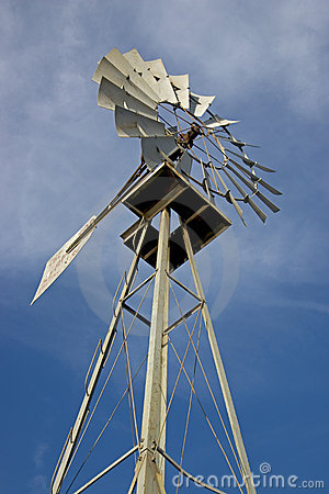 Texas Windmill 3 Stock Photo