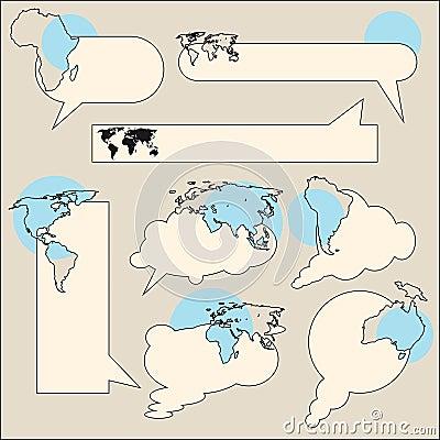 Text balloon continent