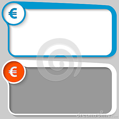 Text box and euro sign