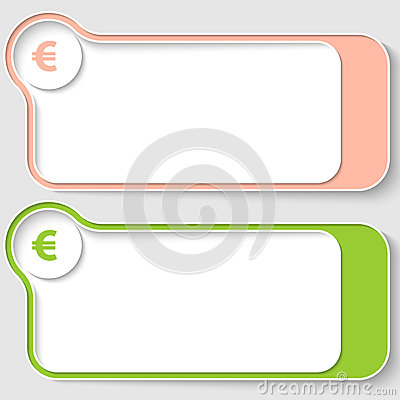 Text boxes with euro sign
