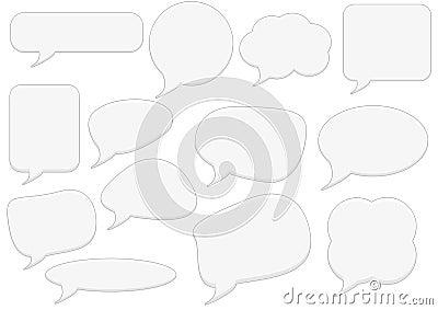 Text bubbles set