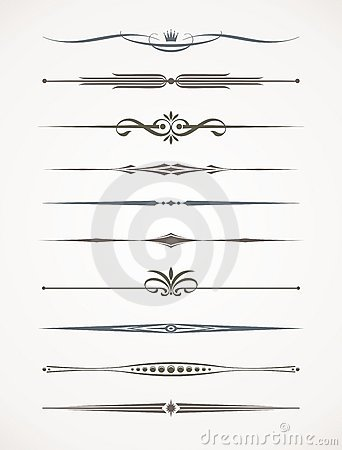 Free Text Decorative Dividers Royalty Free Stock Photo - 19521745