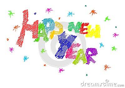 Text des glücklichen neuen Jahres