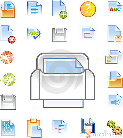 image editor icon. Royalty Free Stock Image: Text editor icons set 1