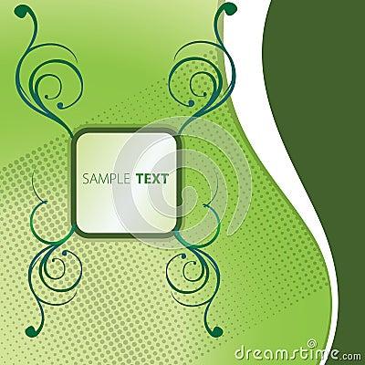 Text green box