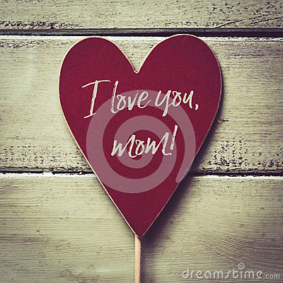 Free Text I Love You Mom Stock Image - 91663061