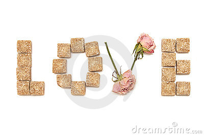 Text love of rose and sugar. Series: sweet, dream