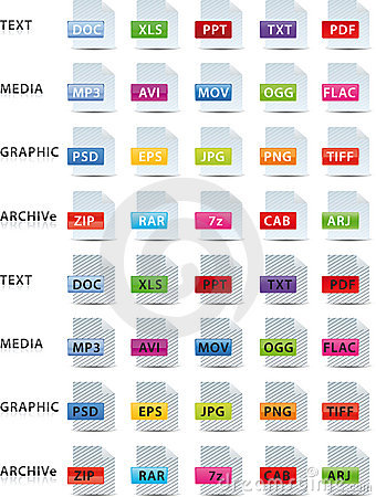 Text media graphic and archive icon