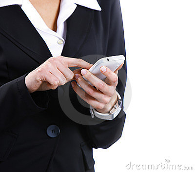 text messaging on cell phone