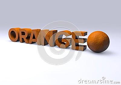 Text orange