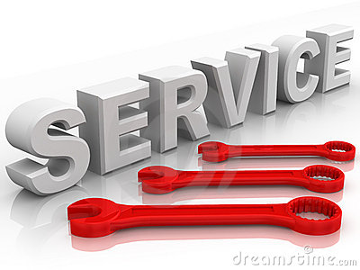 Text SERVICE with three spanners
