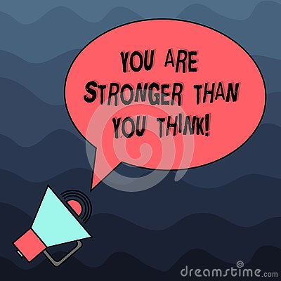 Text sign showing You Are Stronger Than You Think. Conceptual photo Adaptability Strength to overcome obstacles Blank Oval Stock Photo