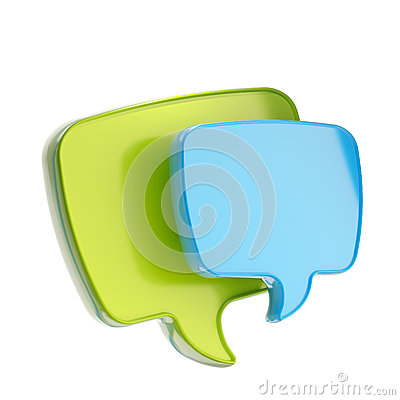Text speech bubble icon isolated