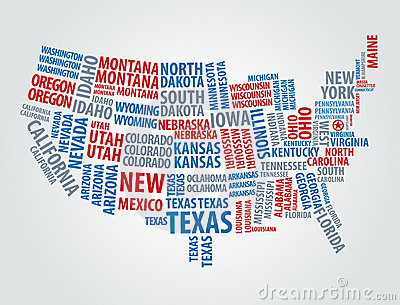 Text USA map