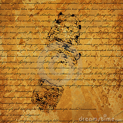 Text is written on grunge old paper