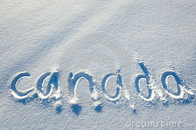 Text written on snow.