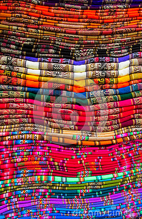 Free Textil In Peruvian Market Stock Photo - 93464150