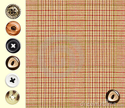 Textile checkered classique