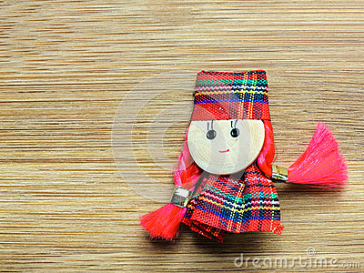Textile doll toy martisor