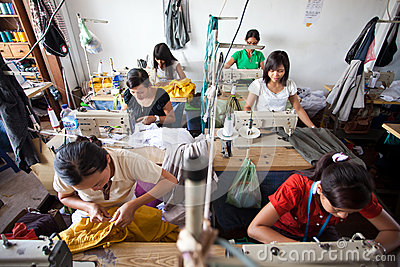 Textile factory Editorial Image