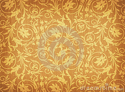 Textile with floral ornament