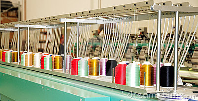 Textile: Industrial Embroidery Machine