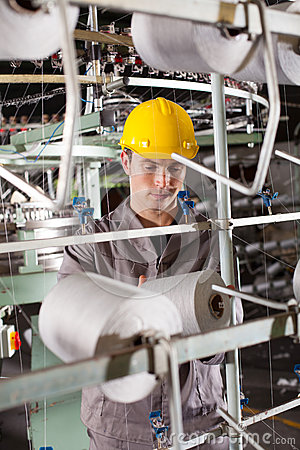 Textile industrial worker