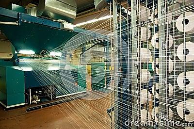 Textile industry (denim) - Weaving
