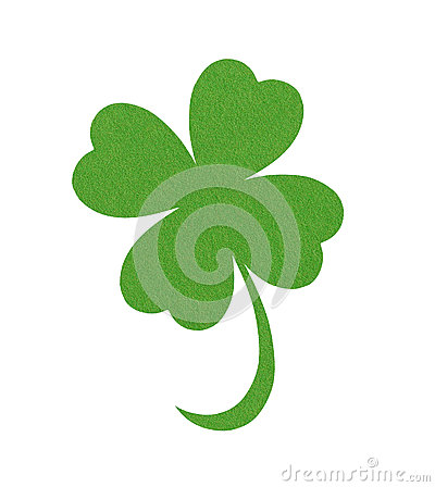 Free Textile Leaf Of Clover Isolated On White Royalty Free Stock Photos - 69583608