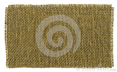 Textile Patch  On White Background