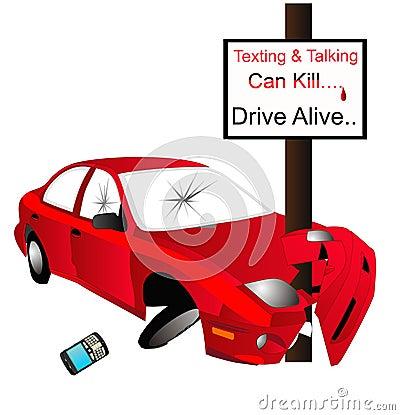 Free Texting And Talking Can Kill... Say No..... Stock Photo - 13629490